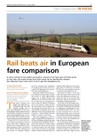 Rail beats air in European fare comparison